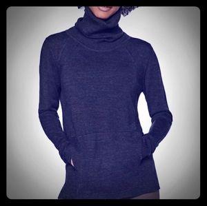 Navy Blue Lululemon 100% Merino Wool Turtleneck